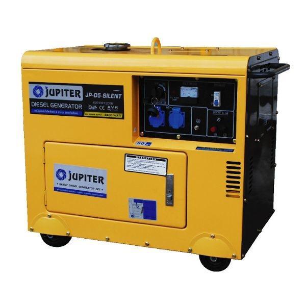 เครื่องกำเนิดไฟฟ้าเครื่องยนต์ดีเซล 5.5 KW. JUPITER รุ่น JP-D5-SILENT