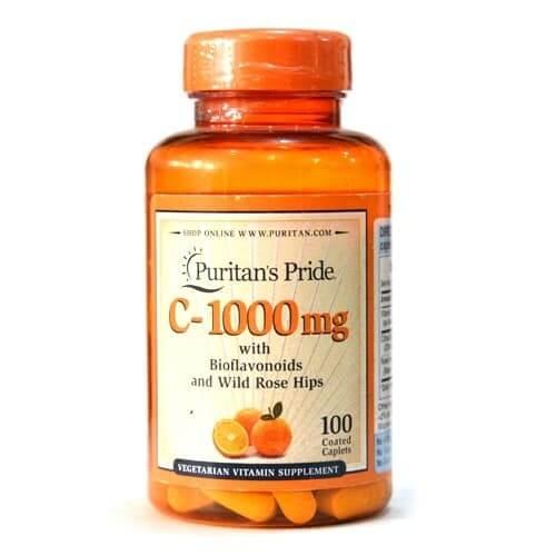 อาหารเสริมต้านหวัด Puritan's Pride Vitamin C-1000 mg