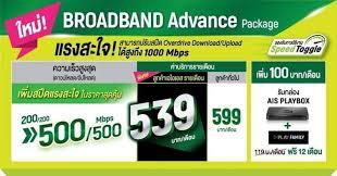 โปรเน็ตบ้าน ค่ายไหนดี AIS Broadband Advance Package