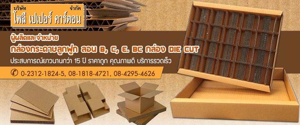 โรงงานผลิตกล่องกระดาษ Poly paper carton ,Ltd