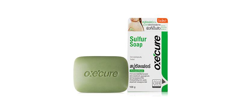 Oxe'cure Sulfur Soap สบู่รักษาสิวที่หลัง