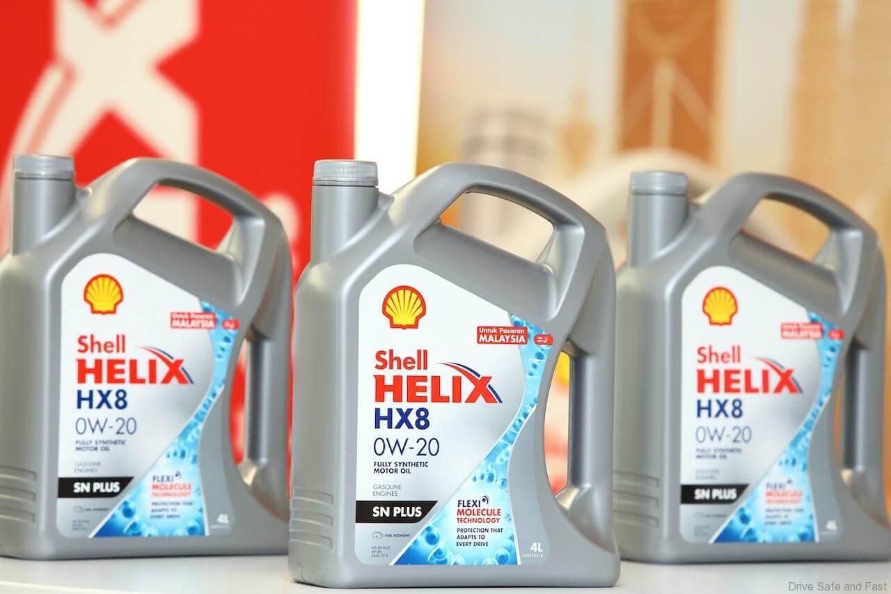 น้ำมันเครื่องรถยนต์ SHELL Helix HX8