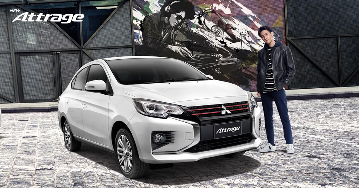 Mitsubishi Attrage รุ่น GLX MT รถยนต์งบ 500,000 บาท
