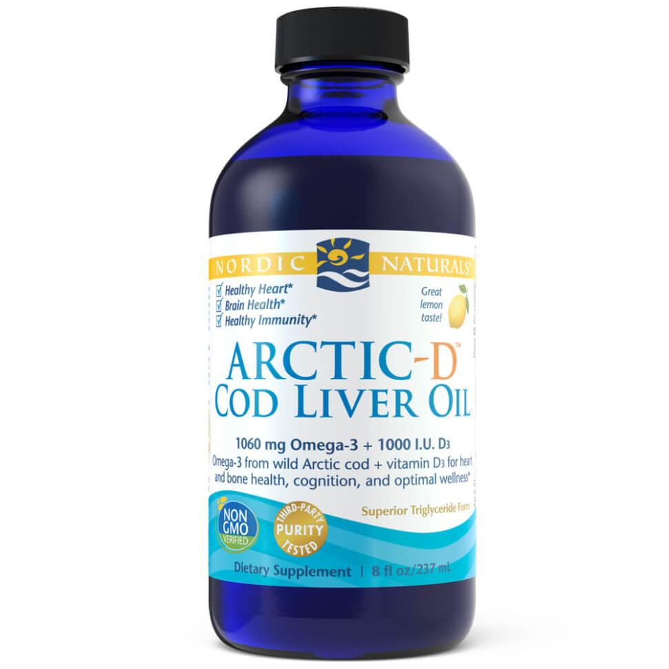 น้ำมันตับปลา Nordic Naturals Arctic-D Cod Liver Oil