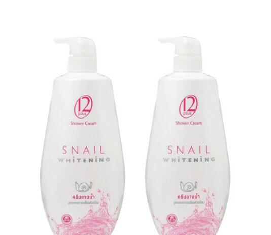 สบู่ผิวขาว 12 Plus Snail Whitening Shower Cream